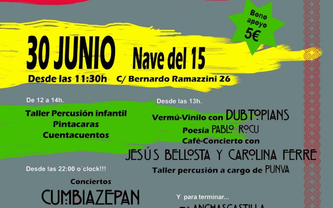 Concierto este sábado 30 de junio en la nave del 15, Zaragoza: IV Jornada de puertas abiertas de Bloco Rebelason