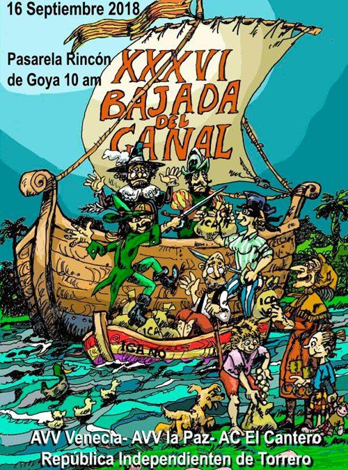 Concierto en la XXXVI Bajada del Canal 2018 el domingo 16 de septiembre de 2018